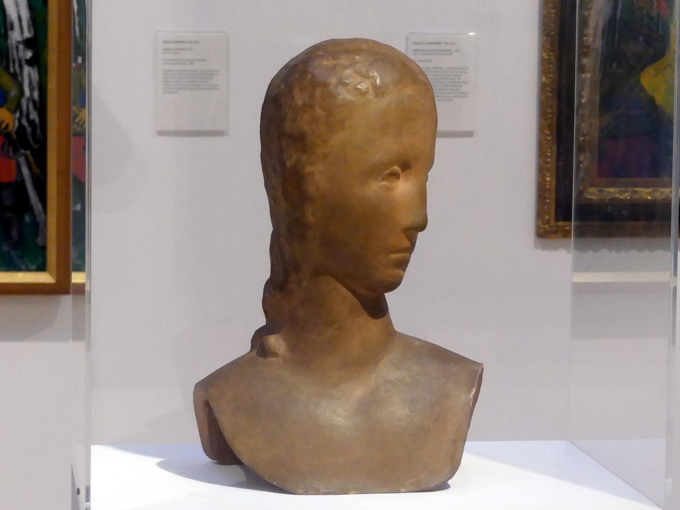 Wilhelm Lehmbruck: Mädchenkopf, sich umwendend, 1913 - 1914