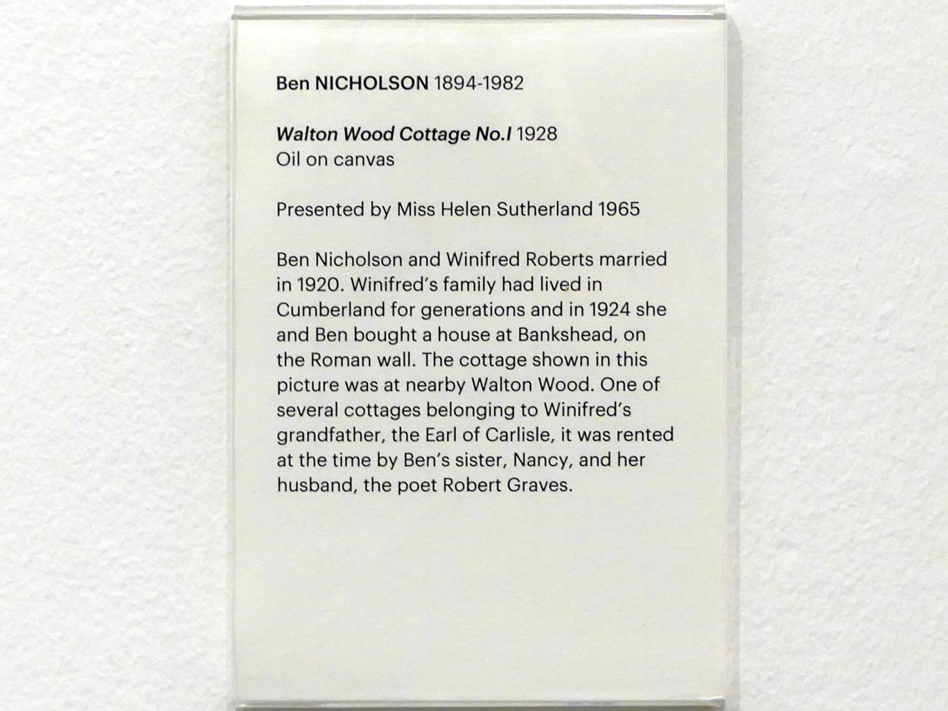 Ben Nicholson: Walton Waldhütte Nr. 1, 1928, Bild 2/2