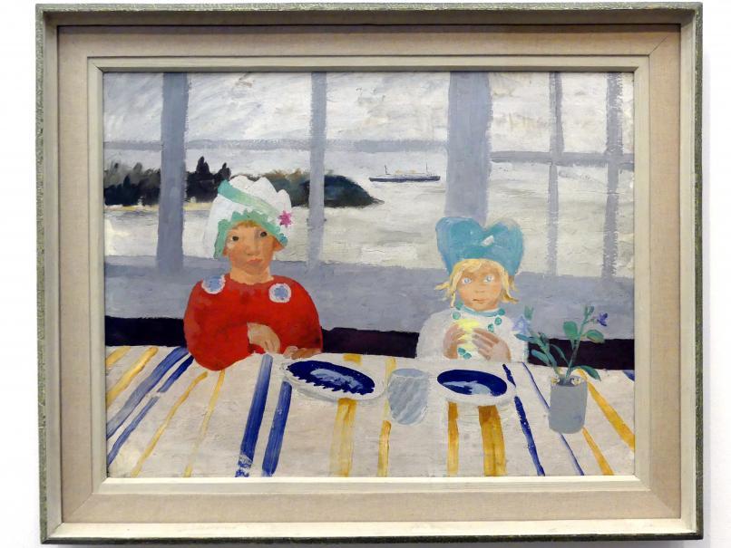 Winifred Nicholson: Jake und Kate auf der Isle of Wight, 1931 - 1932