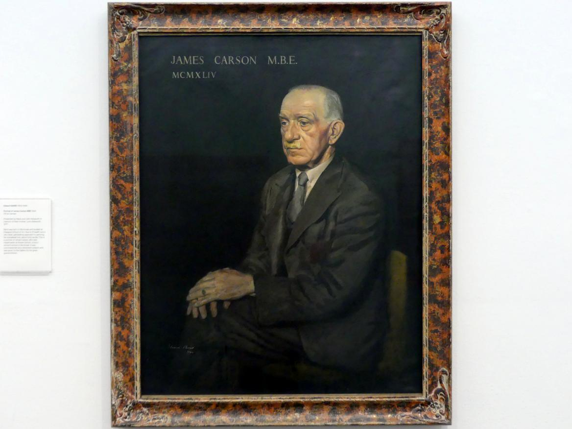 Edward Baird: Porträt James Carson MBE, 1944