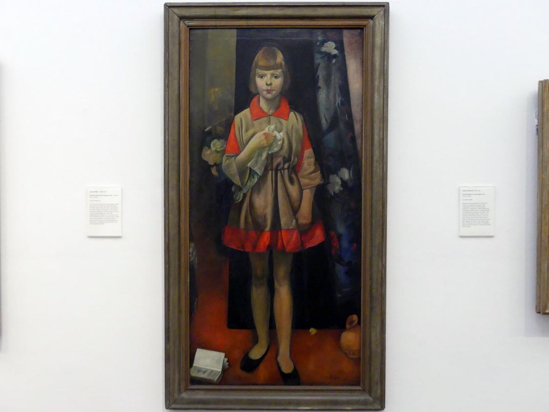 James Cowie: Porträt der Tochter des Künstlers, Ruth, 1932 - 1933