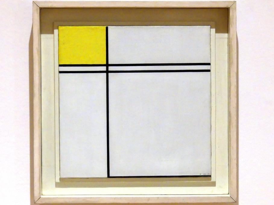 Piet Mondrian: Komposition mit doppelter Linie und Gelb, 1932, Bild 1/3