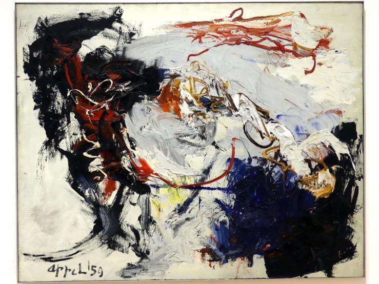 Karel Appel: Tanzen im Raum vor dem Sturm, 1959