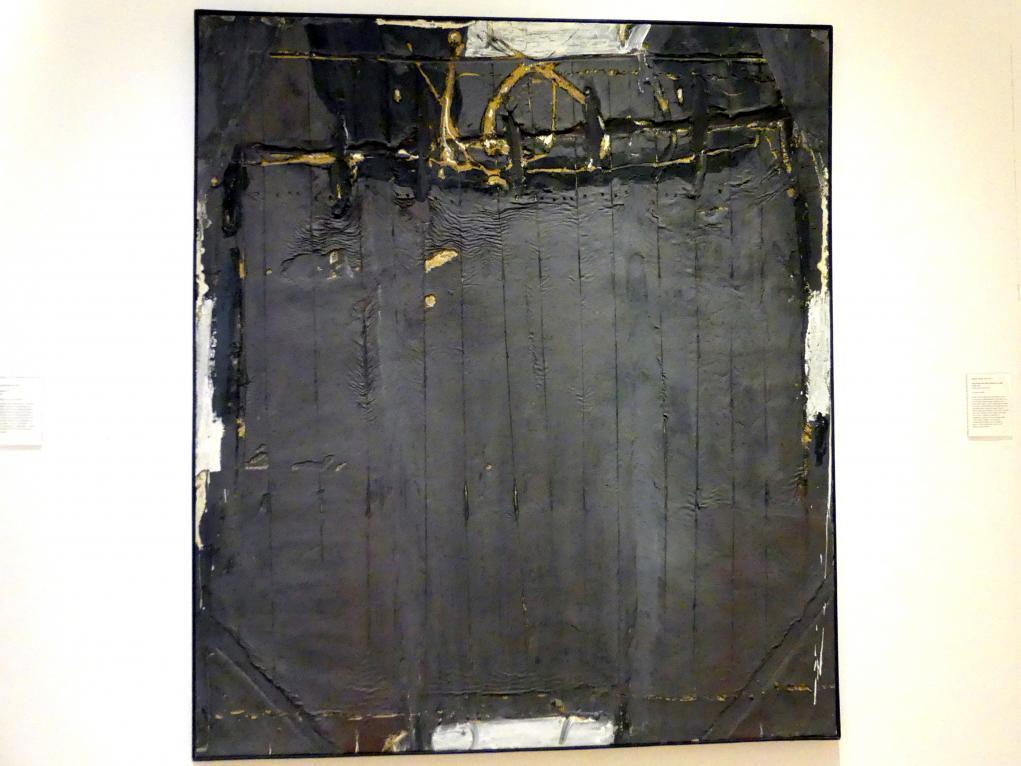 Antoni Tàpies: Gris Violacé aux Rides (Violett Grau mit Linien), 1961