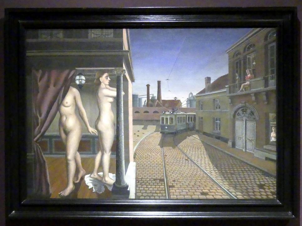 Paul Delvaux: Straßenbahnstrecke, 1938 - 1939