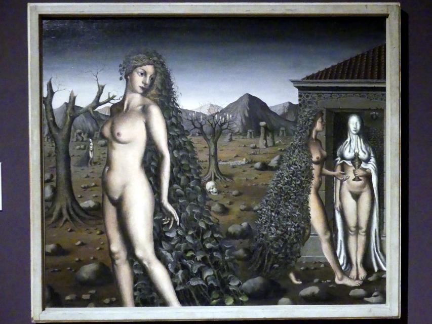 Paul Delvaux: Ruf der Nacht, 1938