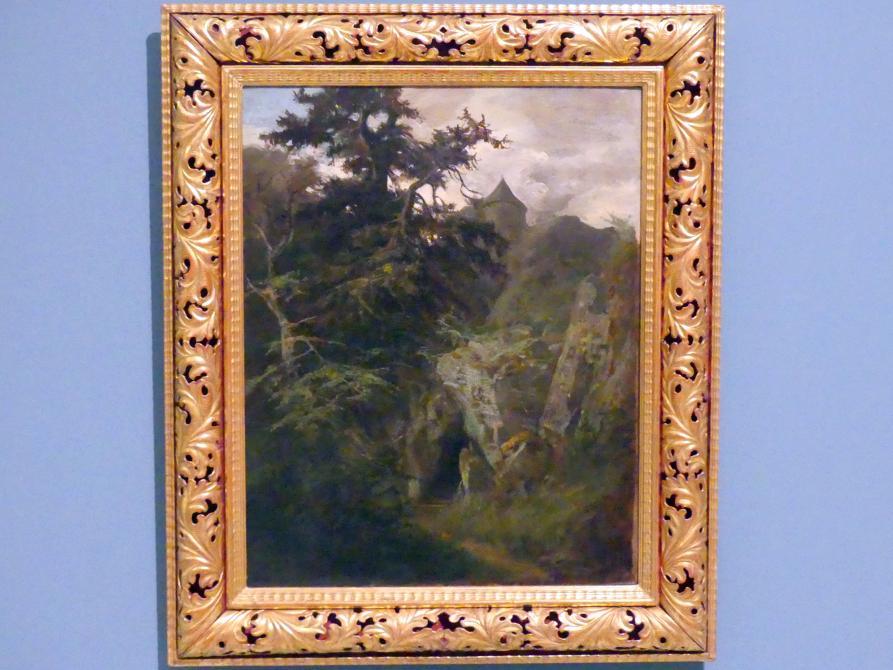 Adolf Kosárek: Landschaft mit Burg, 1855