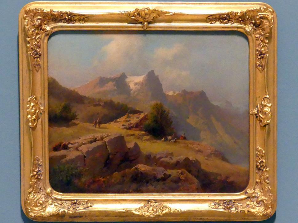 Josef Navrátil: Berg Matten in den Schweizer Alpen, 1843