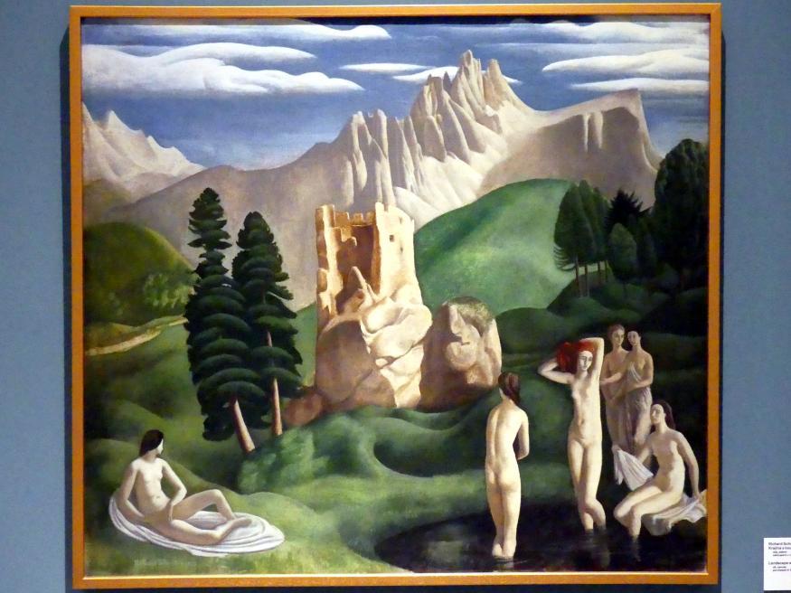 Richard Schrötter: Landschaft mit badenden Mädchen, 1925