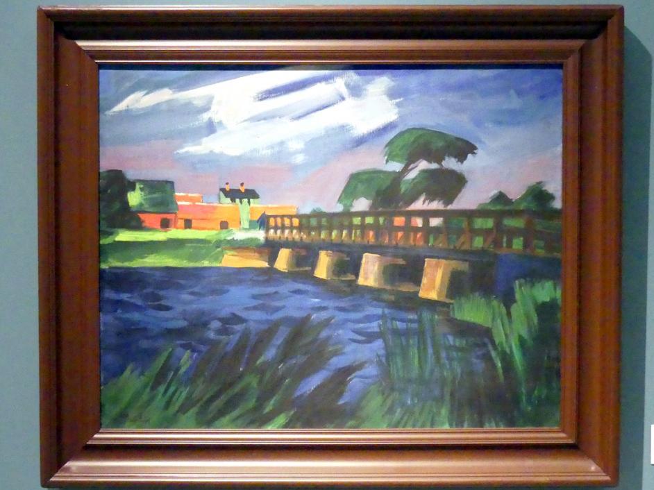 Max Pechstein: Brücke bei Leba, 1922