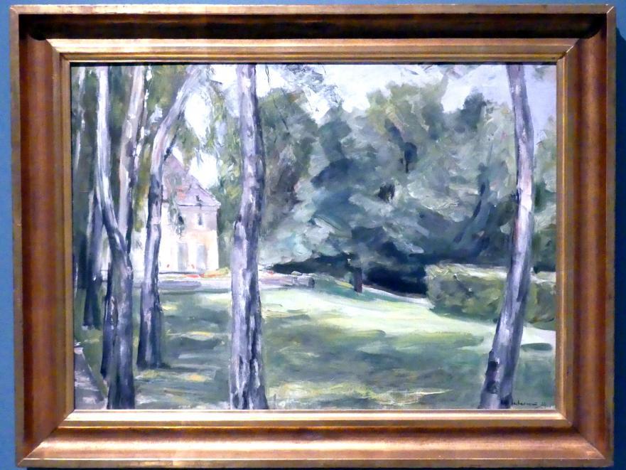 Max Liebermann: Haus in einem Garten - Birken vor dem Haus des Künstlers am Wannsee, 1923
