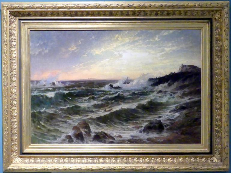 Wilhelm Riedel: Schiffswrack, 1873