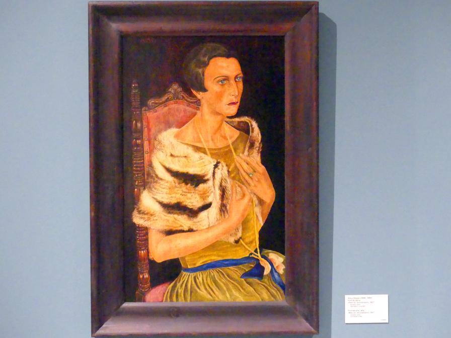 Artur Ressel: Porträt einer Dame (Frau Gr. Grundmann), 1927