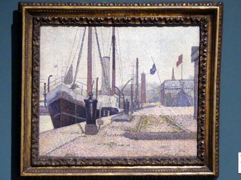 Georges Seurat: Hafen in Honfleur, 1886