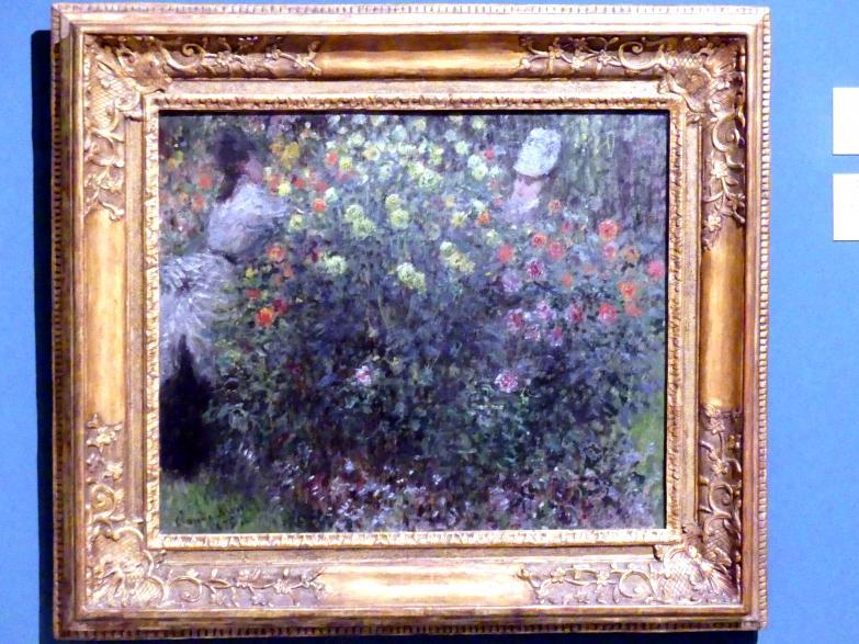 Claude Monet: Zwei Frauen in den Blumen, 1875