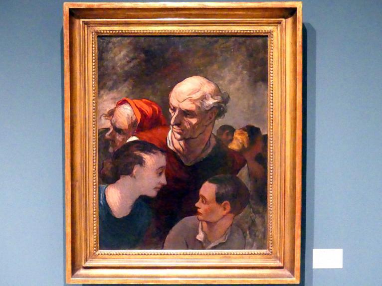 Honoré Daumier: Familie auf den Barrikaden, 1854