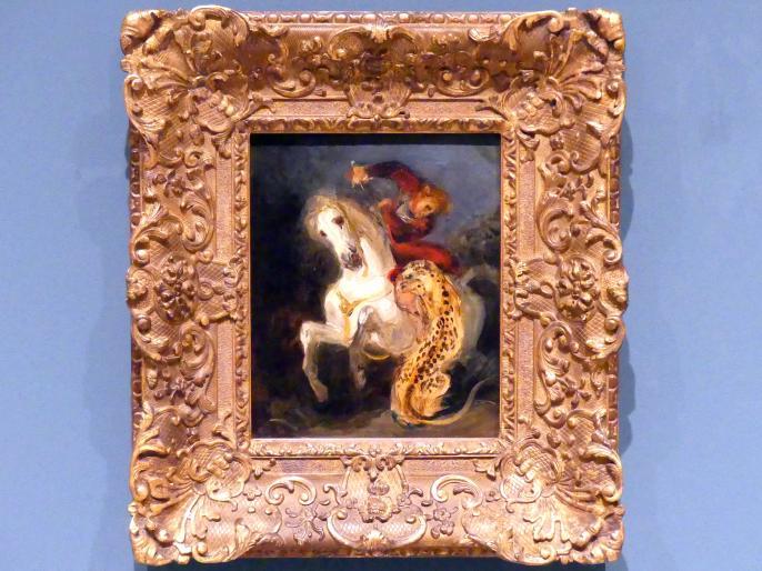 Eugène Delacroix: Reiterangriff von einem Jaguar, 1855