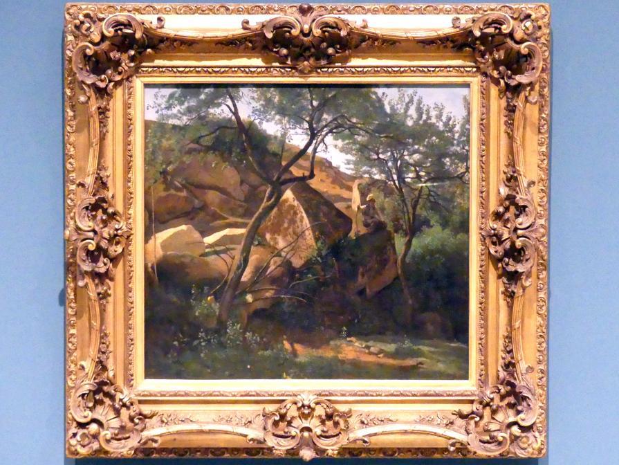 Jean-Baptiste Camille Corot: Junger Hirte in den Felsen (Wald bei Fontainebleau), 1842