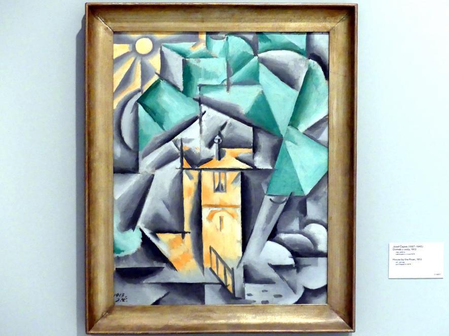 Josef Čapek: Haus am Fluss, 1913