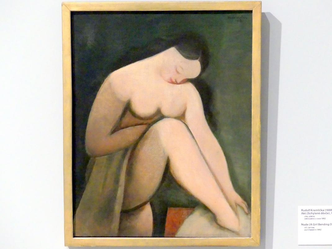 Rudolf Kremlička: Mädchenakt, 1923