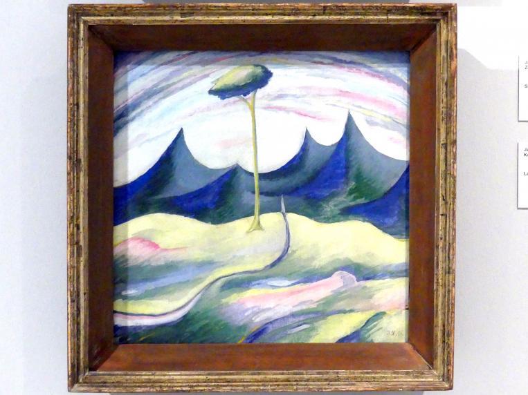 Jan Zrzavý: Landschaft mit einem Baum, 1916