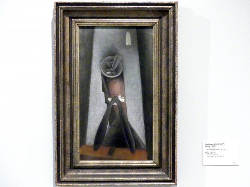 Jan Zrzavý: Witwe, 1918