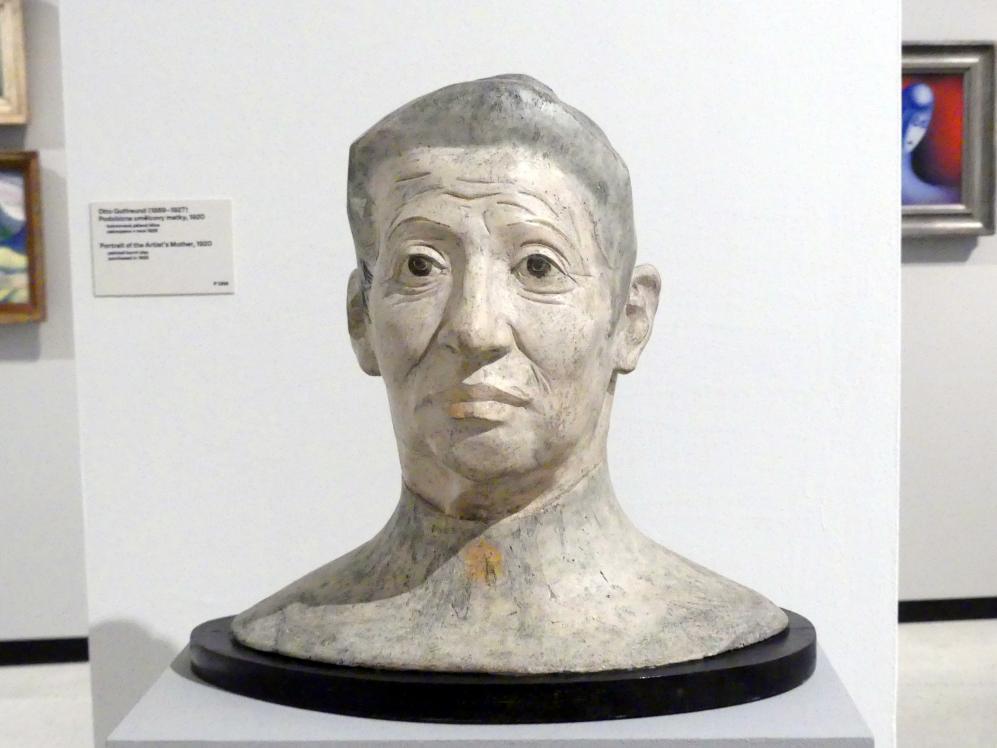 Otto Gutfreund: Porträt der Mutter des Künstlers, 1920