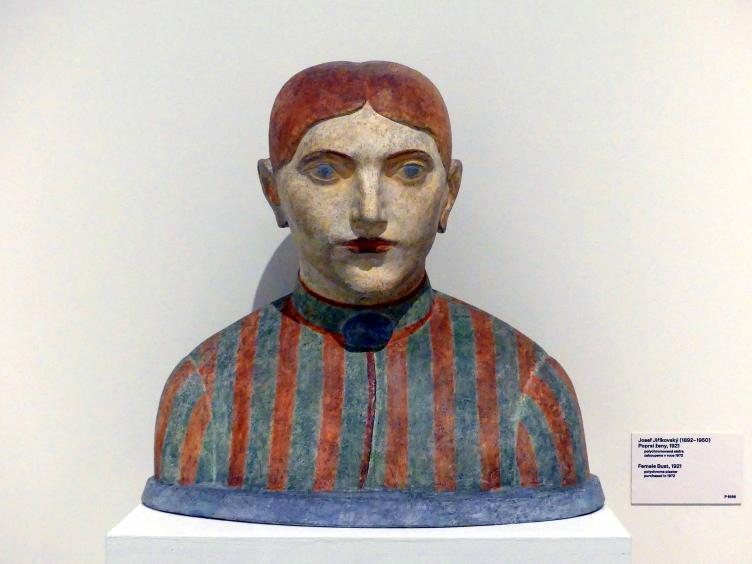 Josef Jiříkovský: Weibliche Büste, 1921