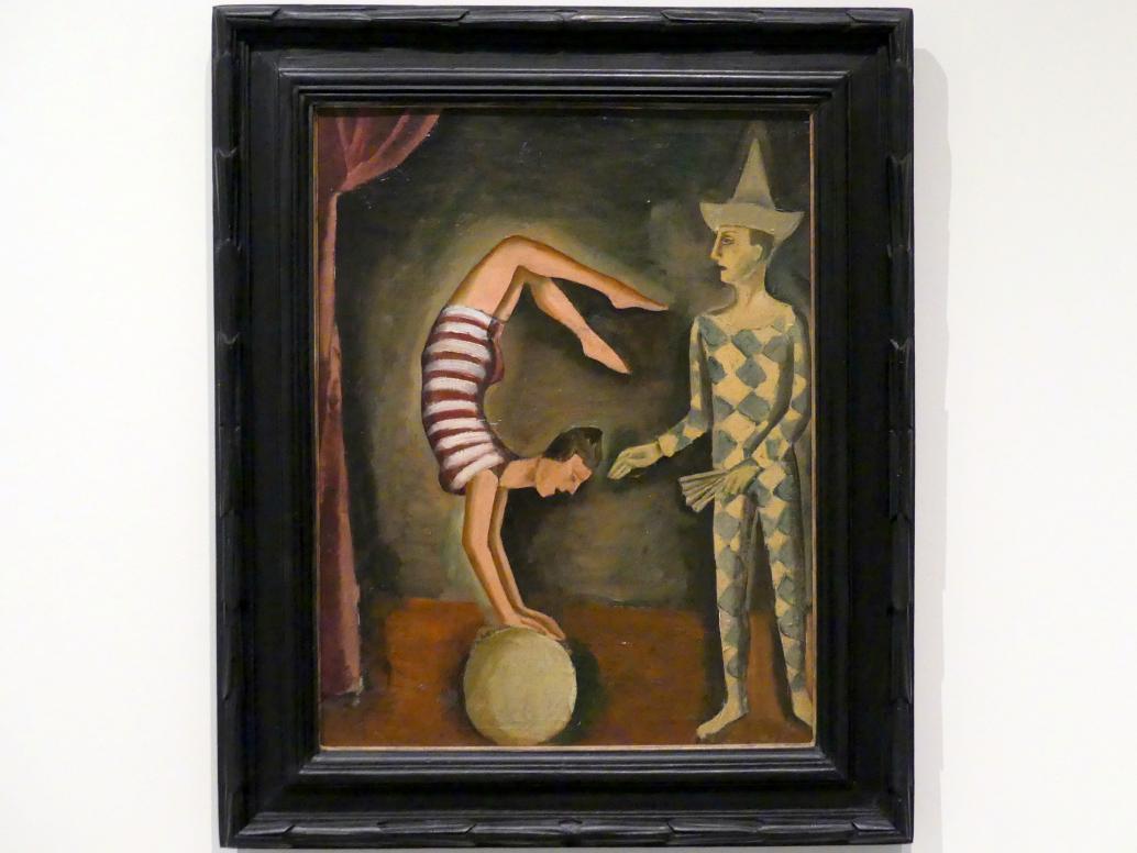 Bedřich Piskač: Pierrot und ein Akrobat, 1921
