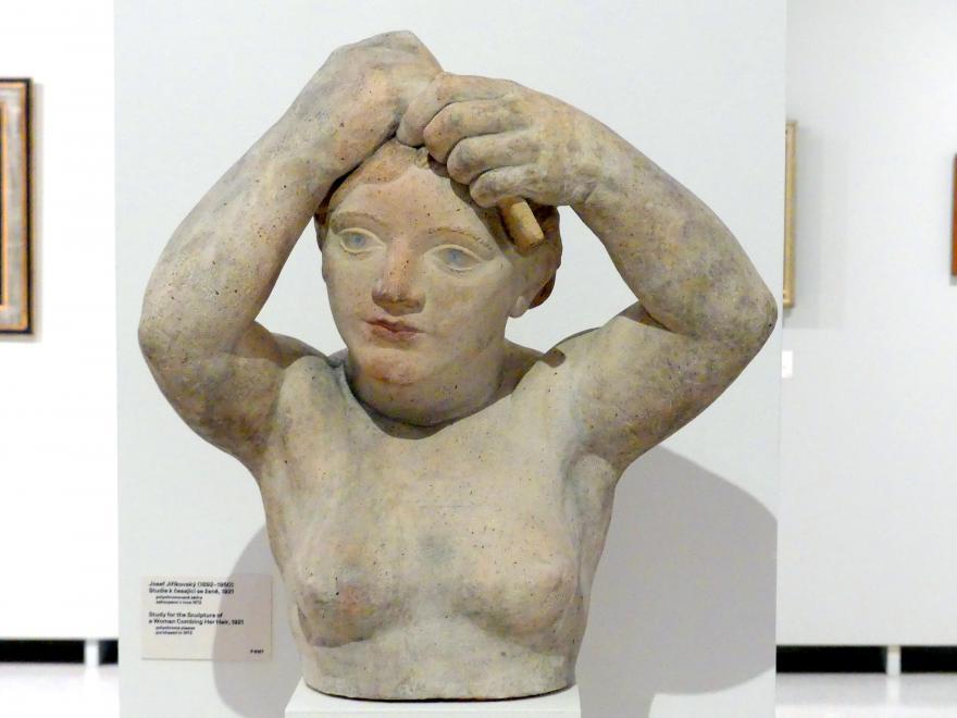 Josef Jiříkovský: Kopfstudie einer sich kämmenden Frau, um 1921