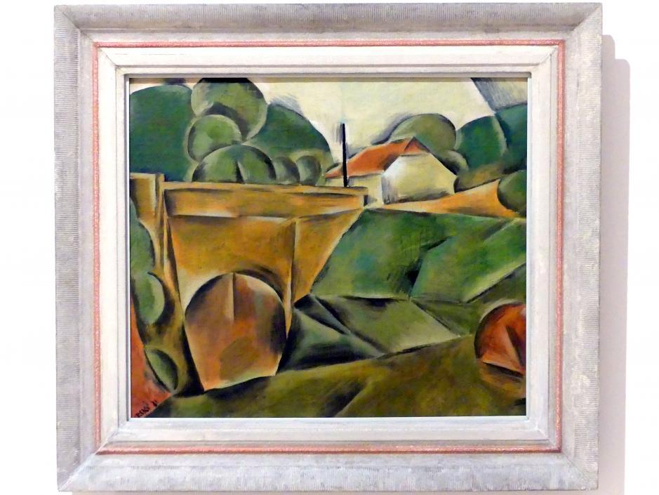 Jindřich Štyrský: Landschaft mit Brücke, 1921