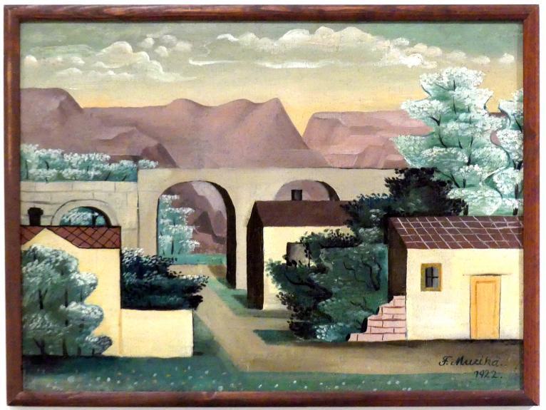 František Muzika: Landschaft, 1922