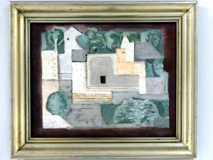 Jindřich Štyrský: Landschaft mit Häusern, 1923