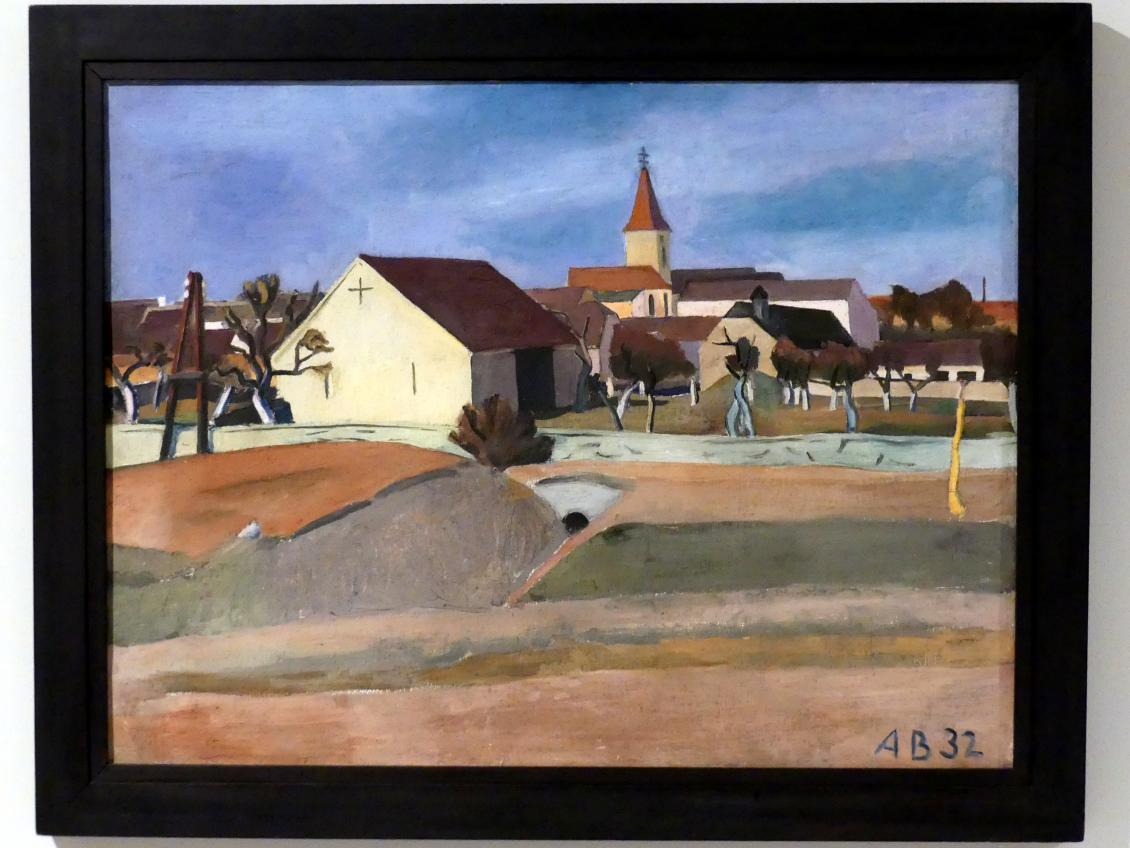 Anton Bruder: Dorfansicht im März, 1932