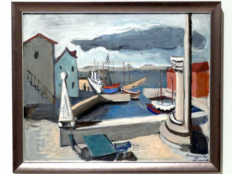 Kurt Hallegger: Bootshafen auf der Insel Hvar, 1932