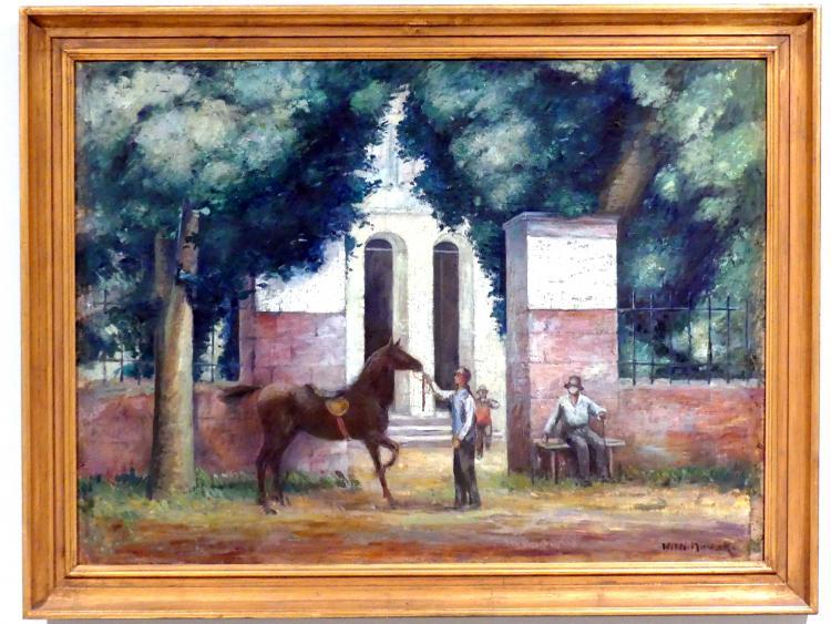 Willi Nowak: Mann mit Pferd, 1929