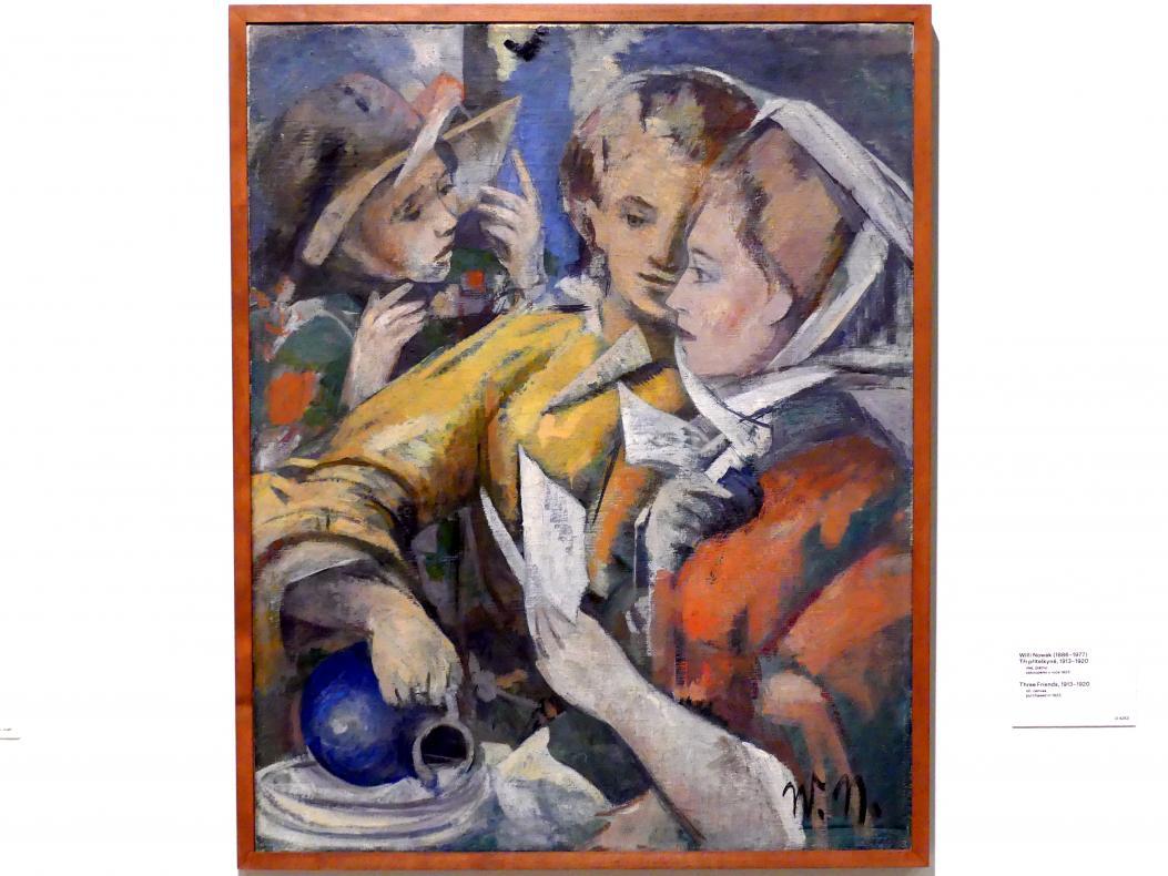 Willi Nowak: Drei Freunde, 1913 - 1920