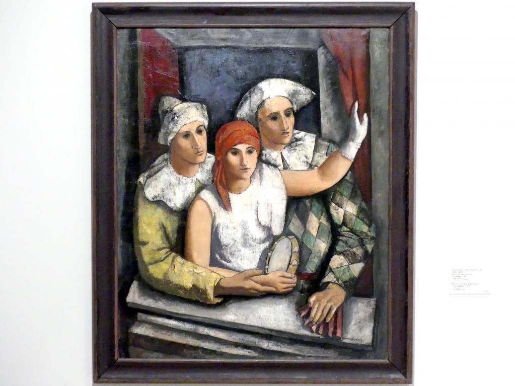 Charlotte Schrötter-Radnitz: Pierrot, ein Mädchen und ein Harlekin (Drei Masken), 1927