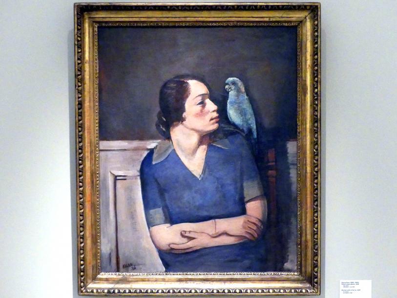 Georges Kars: Frau mit Papagei, 1926