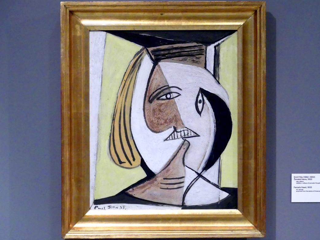 Emil Filla: Weiblicher Kopf, 1933