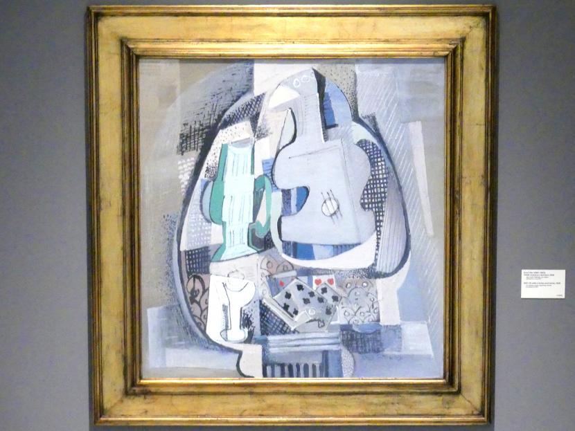 Emil Filla: Stillleben mit Gitarre und Spielkarten, 1929