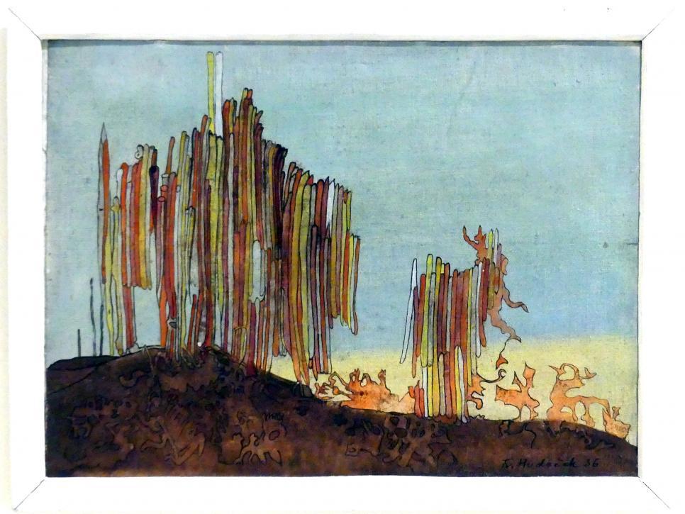 František Hudeček: Orgel im Gebirge, 1936