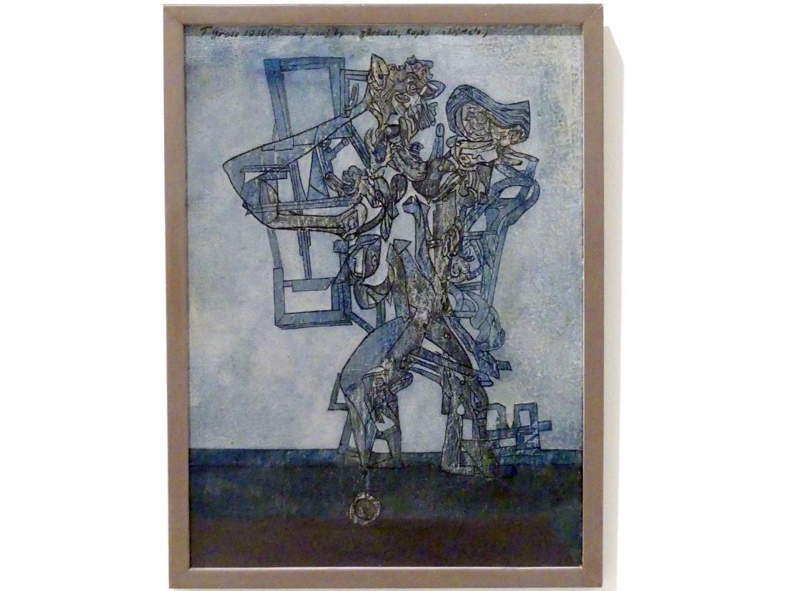 František Gross: Der Blaue Mann würde zusammenfallen wenn es kein Licht gäbe, 1936