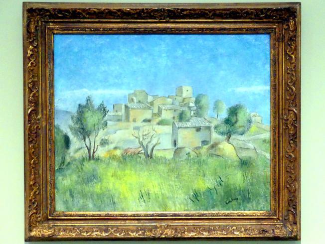 Otakar Kubín: Blick auf ein Dorf in Südfrankreich, um 1925 - 1930