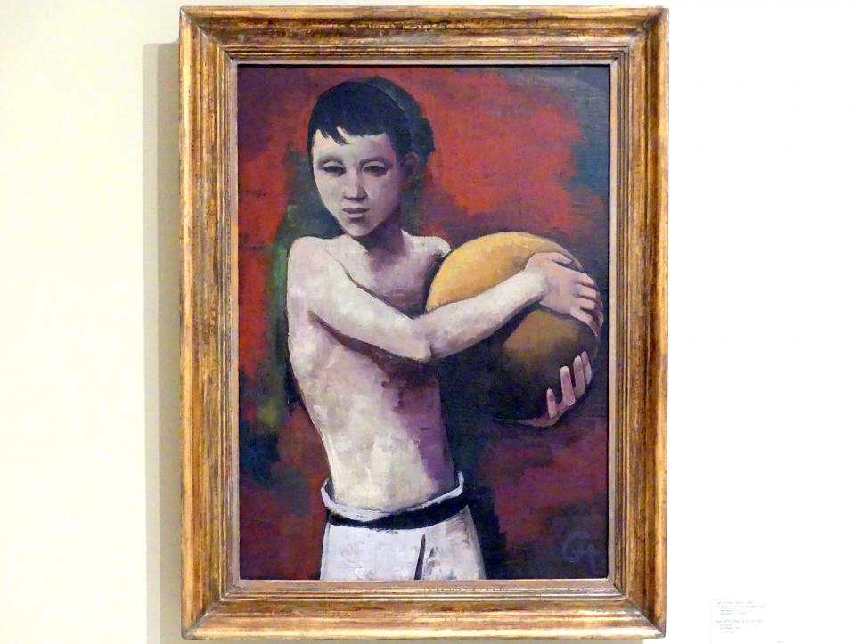 Karl Hofer (Carl Hofer): Junge mit Ball, um 1925