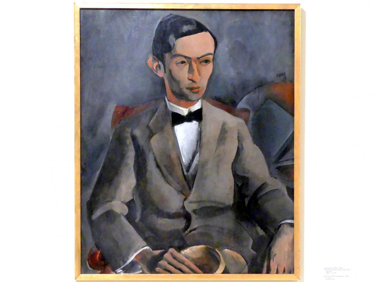 Georges Kars: Porträt Otto Gutfreund, 1913