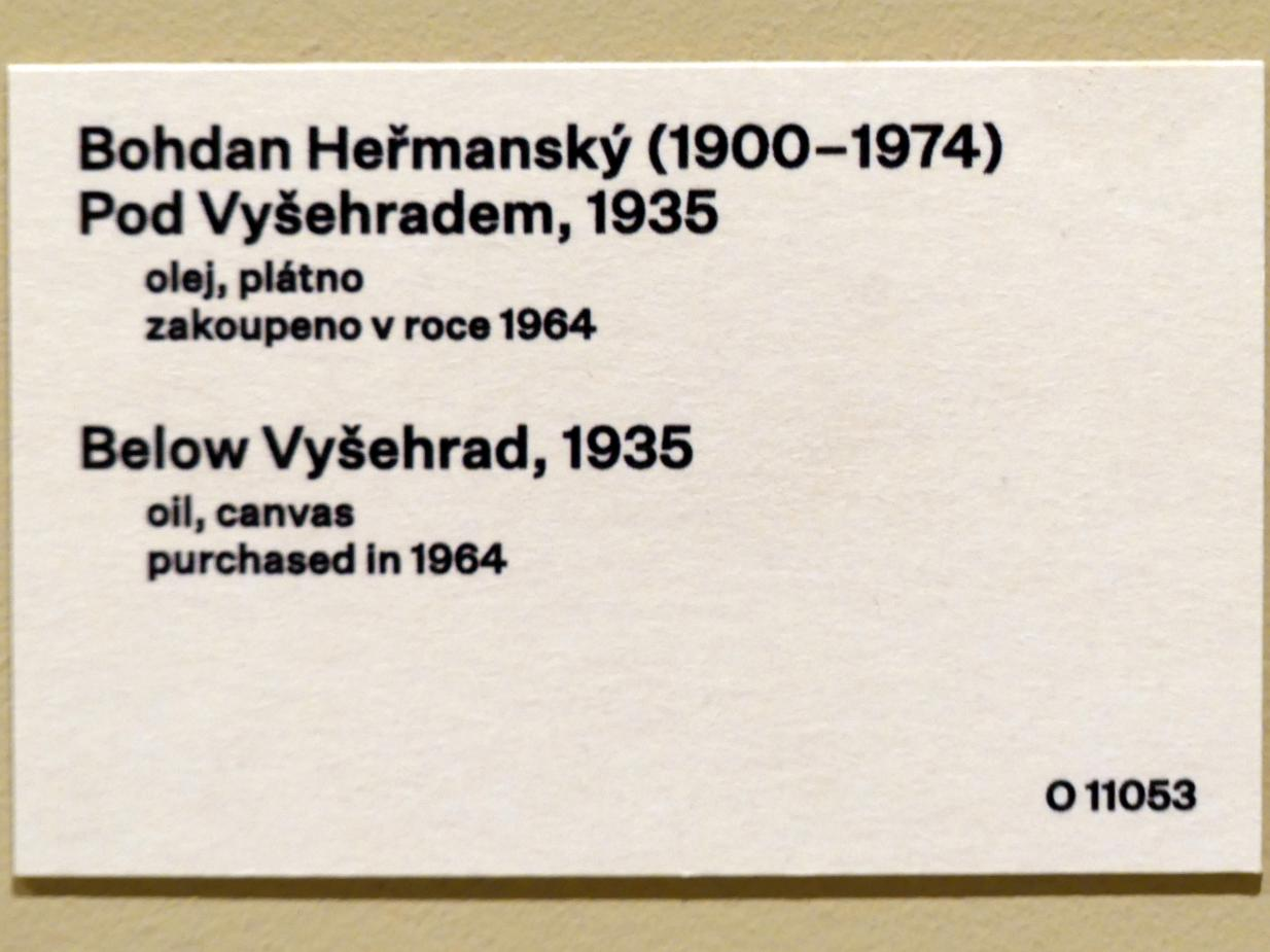 Bohdan Heřmanský: Unterhalb der Prager Hochburg, 1935, Bild 2/2