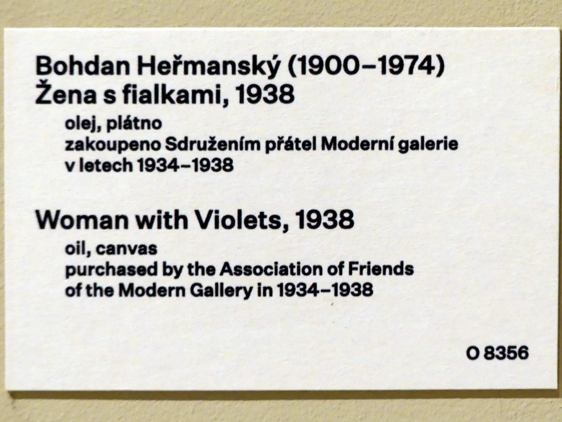 Bohdan Heřmanský: Frau mit Veilchen, 1938, Bild 2/2