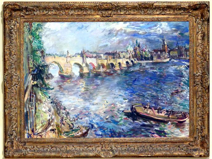 Oskar Kokoschka: Karlsbrücke in Prag, 1934