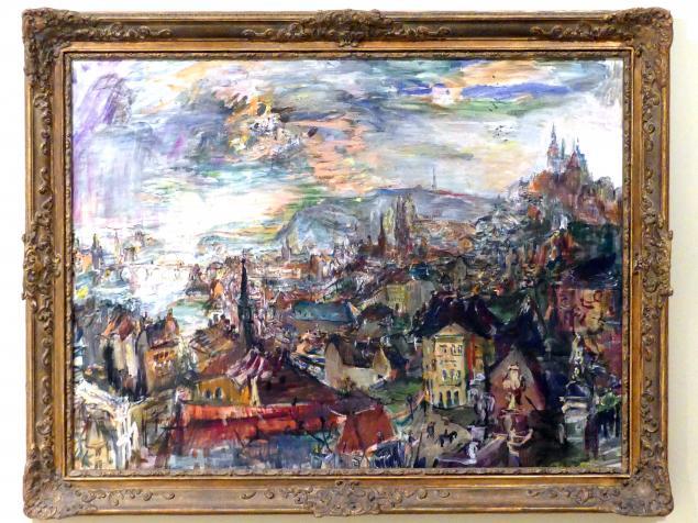 Oskar Kokoschka: Blick von der Kramář-Villa auf Prag, 1934 - 1935